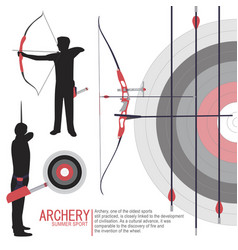 archery sport silhouettes vector image