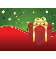 Background with gift box vector