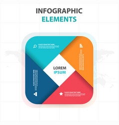 colorful round rectangle business infographics vector image
