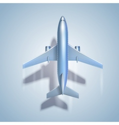 Flying airplane symbol vector image