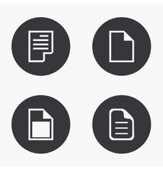 Modern file icons set vector