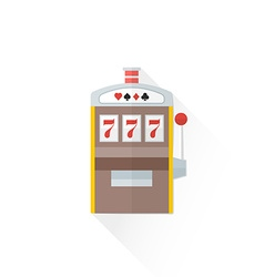 Color playing slot machine icon vector