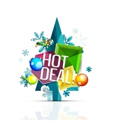 Hot deal sale promotion tags badges for christmas vector