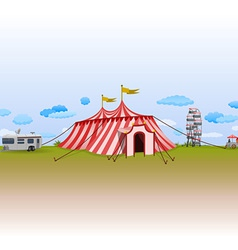 Amusement park with circus vector