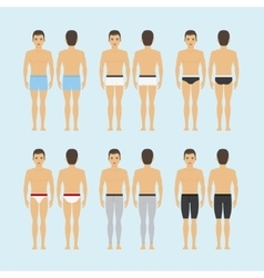 Mens underwear icons vector