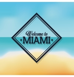 Beach and sea icon miami florida design vector
