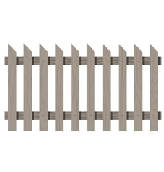 Wooden seamless fence triangular shape isolated vector image