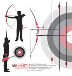 Archery sport silhouettes vector