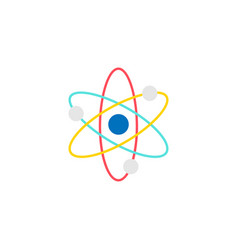 Atom and molecule flat icon education and school vector