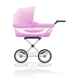 baby perambulator 01 vector image