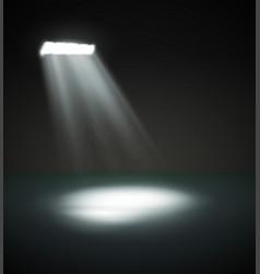 big spotlight with rays vector image