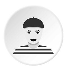 Clown icon circle vector