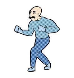 Comic cartoon victorian boxer vector