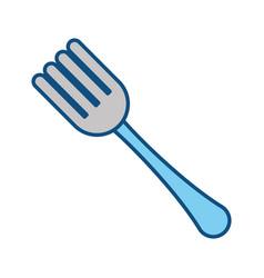 Covered fork symbol vector