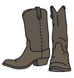 Dark jackboots vector
