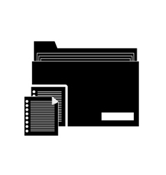 file folder and documents icon vector image vector image
