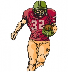 football sketch vector image vector image