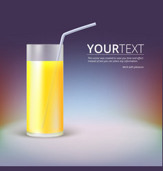 Glass of juice vector image