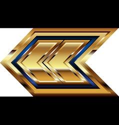 Golden Font Symbol vector image