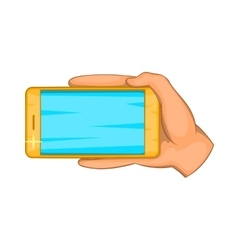 Hand with mobile phone icon cartoon style vector image vector image