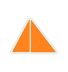 Icon sticker realistic design on paper pyramids vector