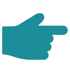 Index finger flat soft blue color icon vector
