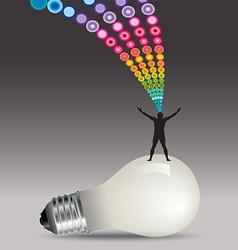 Man Light Bulb Burst vector image vector image