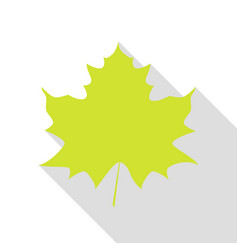 Maple leaf sign pear icon with flat style shadow vector