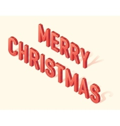 Merry Christmas greeting card 3d isometric vector image vector image