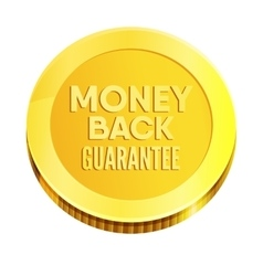 Money back guarantee business seal vector