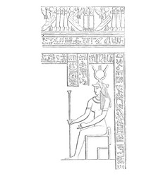mural decoration hieroglyphics from the great vector image