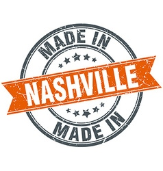Nashville orange grunge ribbon stamp on white vector
