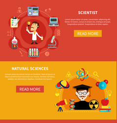 natural science banners vector image vector image