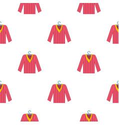 Pink striped pajama shirt pattern seamless vector