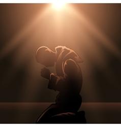 Praying Monk vector image