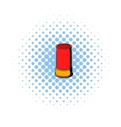 Shotgun shell icon comics style vector