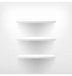 Three empty shelf for exhibit vector