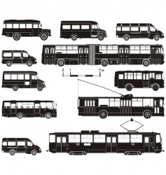 Transportation silhouettes vector