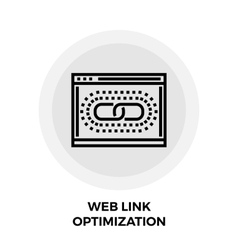 Web link optimization line icon vector