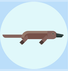 With cartoon platypus icon vector