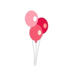 Three balloons icon flat style vector