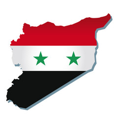 Syria flag amp map vector