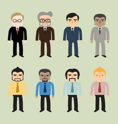 Business people flat design vector