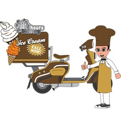 Ice cream delivery vector