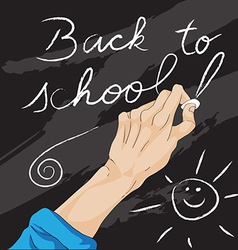 Writing back to school vector