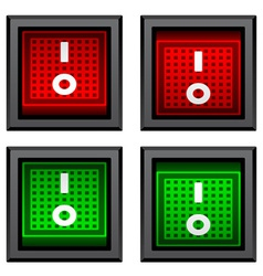 Square toggle power switches vector