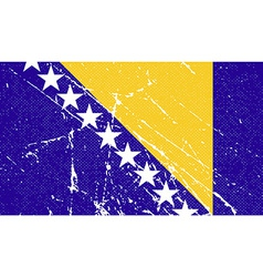 Flag of bosnia and herzegovina with old texture vector
