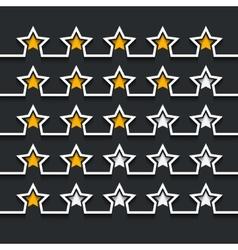 modern stars rating set on black vector image