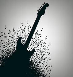 Notes guitar background vector