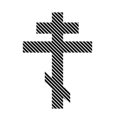 Religious orthodox cross sign vector